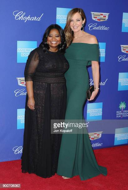 Actress Octavia Spencer and actress Allison Janney attend the 29th Annual Palm Springs International Film Festival Awards Gala at Palm Springs...