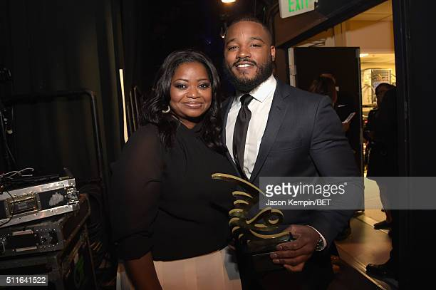 Actress Octavia Spencer and director Ryan Coogler pose backstage at the 2016 ABFF Awards A Celebration Of Hollywood at The Beverly Hilton Hotel on...