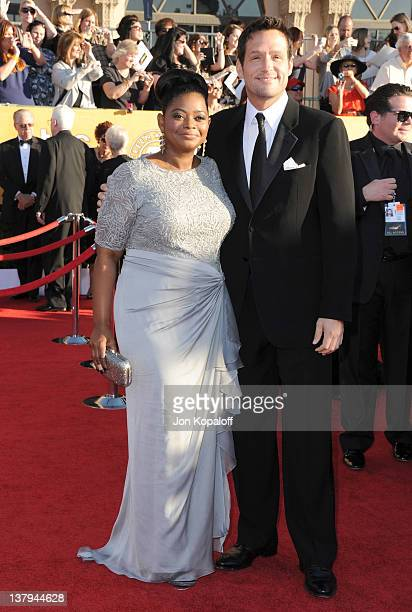 Actress Octavia Spencer and Josh Hopkins arrive at the 18th Annual Screen Actors Guild Awards held at The Shrine Auditorium on January 29 2012 in Los...