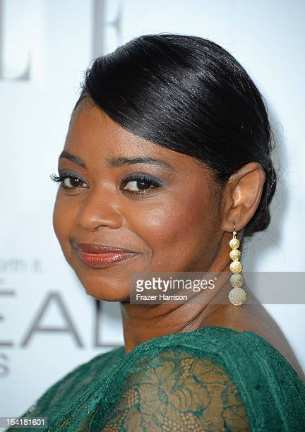Actress Octavia Spencer arrives at ELLE's 19th Annual Women In Hollywood Celebration at the Four Seasons Hotel on October 15 2012 in Beverly Hills...