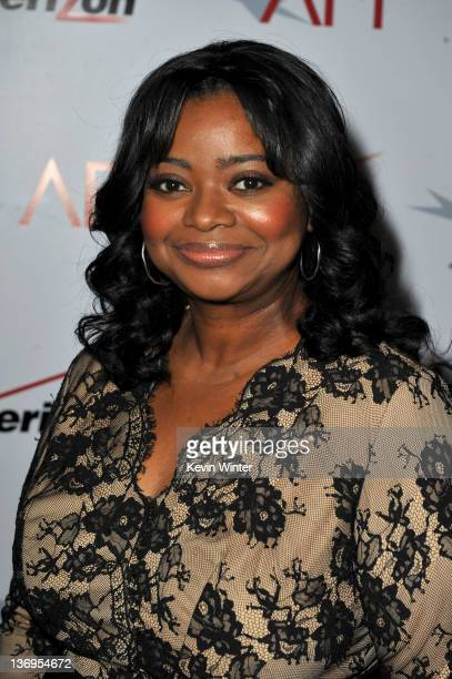 Actress Octavia Spencer arrives at the 12th Annual AFI Awards held at the Four Seasons Hotel Los Angeles at Beverly Hills on January 13 2012 in...