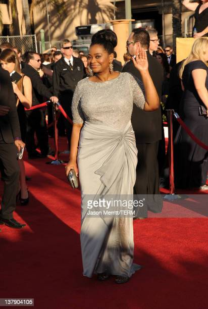 Actress Octavia Spencer arrives at the 18th Annual Screen Actors Guild Awards at The Shrine Auditorium on January 29 2012 in Los Angeles California