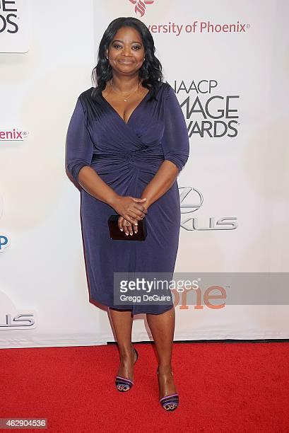 Actress Octavia Spencer arrives at the 46th Annual NAACP Image Awards at the Pasadena Civic Auditorium on February 6 2015 in Pasadena California