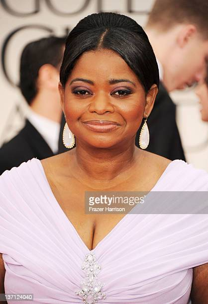 Actress Octavia Spencer arrives at the 69th Annual Golden Globe Awards held at the Beverly Hilton Hotel on January 15 2012 in Beverly Hills California