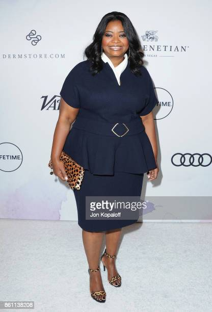 Actress Octavia Spencer arrives at Variety's Power Of Women Los Angeles at the Beverly Wilshire Four Seasons Hotel on October 13 2017 in Beverly...
