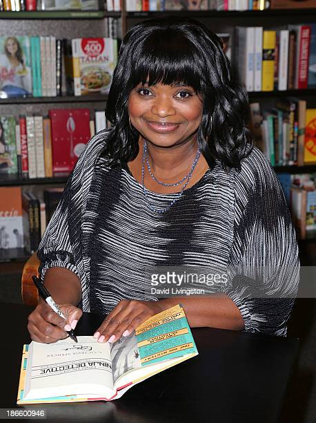 "Actress Octavia Spencer attends a signing for her book ""The Case of the Time-Capsule Bandit"" at Barnes & Noble 3rd Street Promenade on November 1,..."