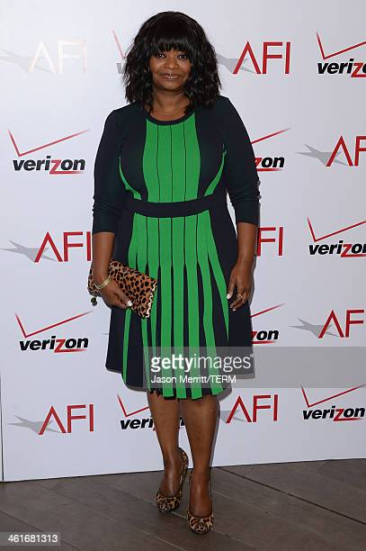 Actress Octavia Spencer attends the 14th annual AFI Awards Luncheon at the Four Seasons Hotel Beverly Hills on January 10 2014 in Beverly Hills...
