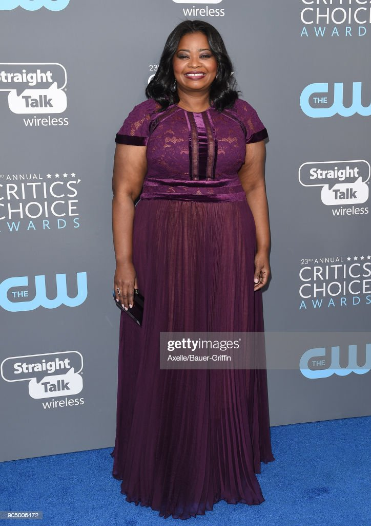 Actress Octavia Spencer attends the 23rd Annual Critics' Choice Awards at Barker Hangar on January 11, 2018 in Santa Monica, California.