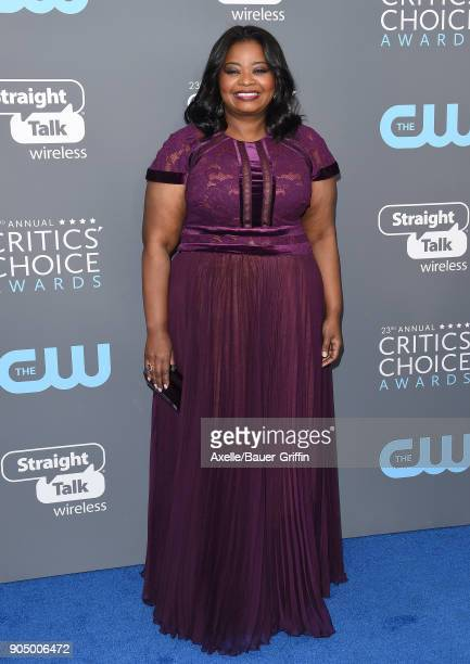 Actress Octavia Spencer attends the 23rd Annual Critics' Choice Awards at Barker Hangar on January 11 2018 in Santa Monica California