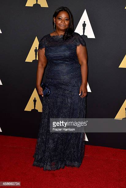 Actress Octavia Spencer attends the Academy Of Motion Picture Arts And Sciences' 2014 Governors Awards at The Ray Dolby Ballroom at Hollywood...