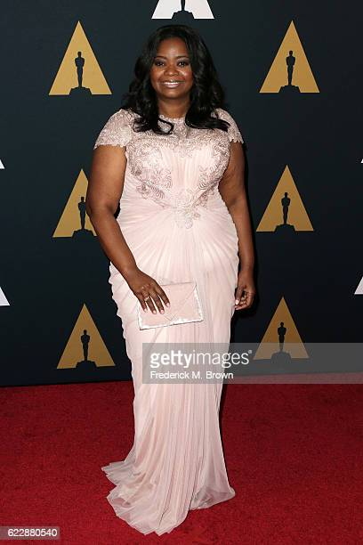 Actress Octavia Spencer attends the Academy of Motion Picture Arts and Sciences' 8th annual Governors Awards at The Ray Dolby Ballroom at Hollywood...