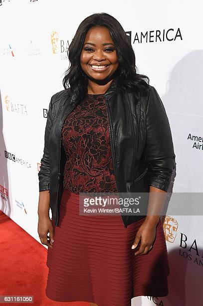 Actress Octavia Spencer attends The BAFTA Tea Party at Four Seasons Hotel Los Angeles at Beverly Hills on January 7 2017 in Los Angeles California