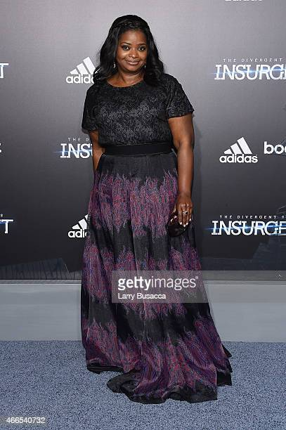 Actress Octavia Spencer attends 'The Divergent Series Insurgent' New York premiere at Ziegfeld Theater on March 16 2015 in New York City