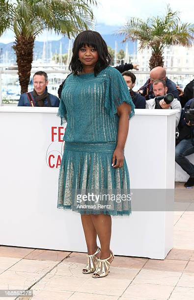Actress Octavia Spencer attends the 'Fruitvale Station' Photocall during the 66th Annual Cannes Film Festival at the Palais des Festivals on May 16...