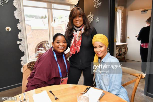 Actress Octavia Spencer attorney Chaz Ebert and actress Jada Pinkett Smith attend the Feature Film Jury Orientation Breakfast during the 2018...