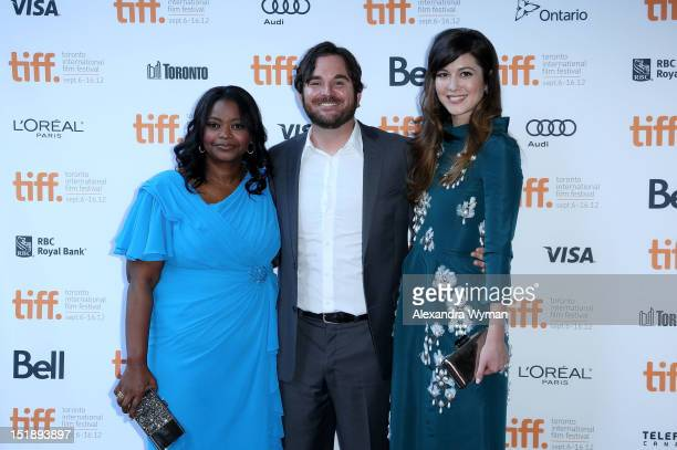 Actress Octavia Spencer director James Ponsoldt and actress Mary Elizabeth Winstead attend the Smashed premiere during the 2012 Toronto International...