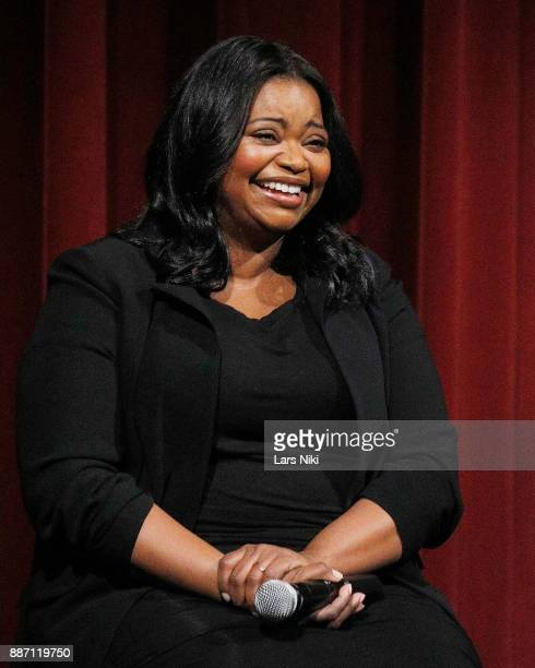 Actress Octavia Spencer on stage during The Academy of Motion Picture Arts Sciences Official Academy Screening of The Shape of Water at MOMA on...