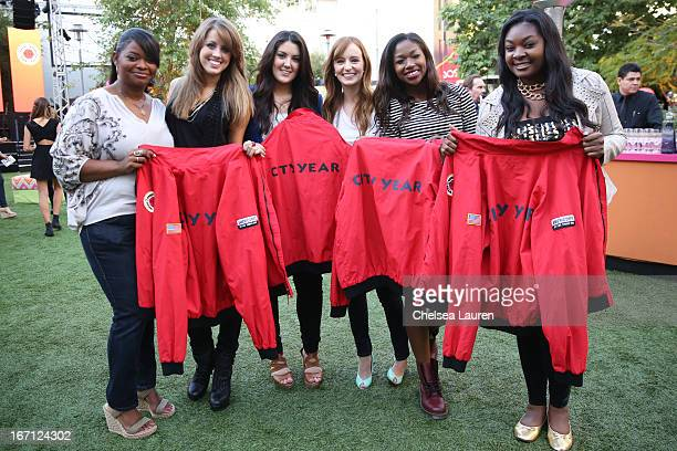 Actress Octavia Spencer singer Angie Miller singer Kree Harrison actress Ahna O'Reilly singer Amber Holcomb and singer Candice Glover attend City...