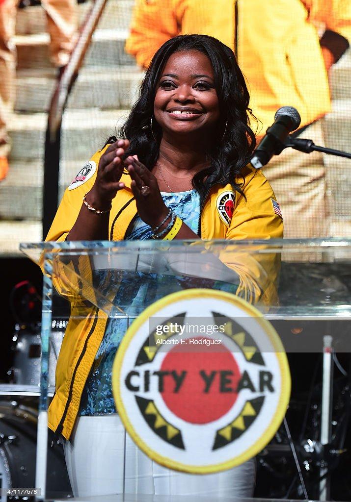 Actress Octavia Spencer speaks at City Year Los Angeles Spring Break at Sony Studios on April 25, 2015 in Los Angeles, California.