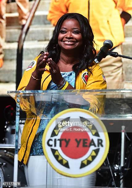 Actress Octavia Spencer speaks at City Year Los Angeles Spring Break at Sony Studios on April 25 2015 in Los Angeles California