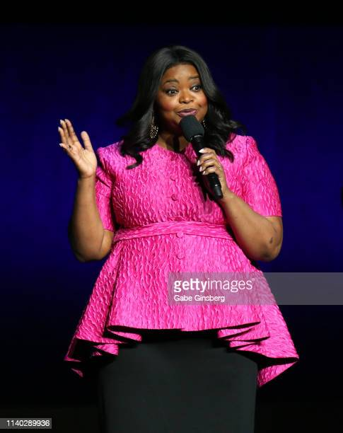 Actress Octavia Spencer speaks during Universal Pictures special presentation during CinemaCon at The Colosseum at Caesars Palace on April 03, 2019...