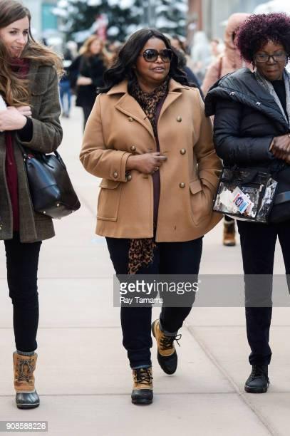 Actress Octavia Spencer walks in Park City on January 21 2018 in Park City Utah