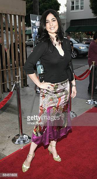 Actress Odalys Garcia attends the West Coast premiere of the film Matando Cabos on August 22 2005 at the Eygptian Theatre in Hollywood California