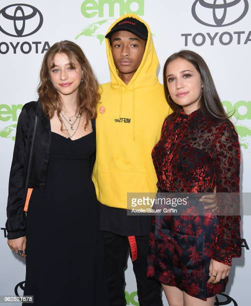 Actress Odessa Adlon actor/singer Jaden Smith and Rockie Adlon attend the 28th Annual EMA Awards Ceremony at Montage Beverly Hills on May 22 2018 in...