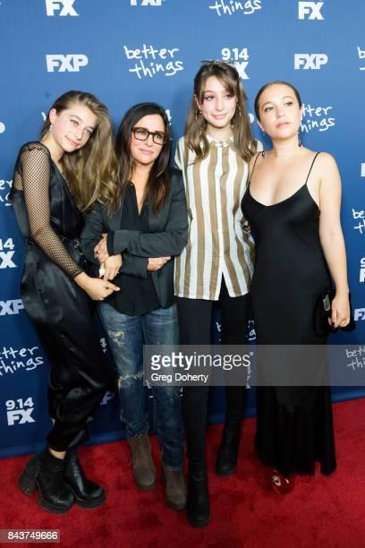 Actress Odessa Adlon CoCreator/Executive Producer/Writer/Director Pamela Adlon and Actresses Rocky Adlon and Gideon Adlon arrive for the Premiere Of...