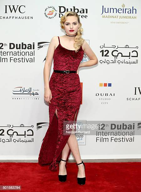 Actress Odessa Young attends The Big Short Closing Night premiere during day eight of the 12th annual Dubai International Film Festival held at the...