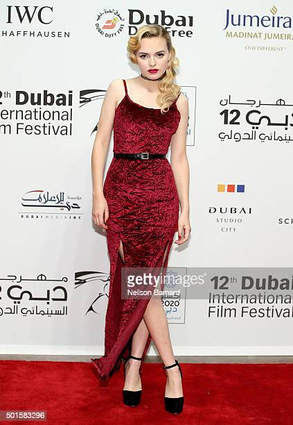 Actress Odessa Young attends 'The Big Short' Closing Night premiere during day eight of the 12th annual Dubai International Film Festival held at the...