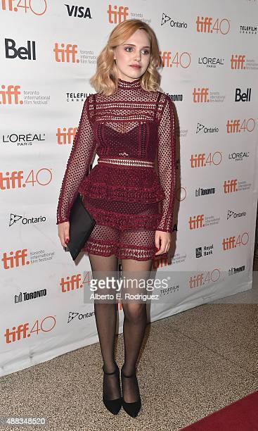 Actress Odessa Young attends the 'Looking For Grace' photo call during the 2015 Toronto International Film Festival at The Elgin on September 15 2015...