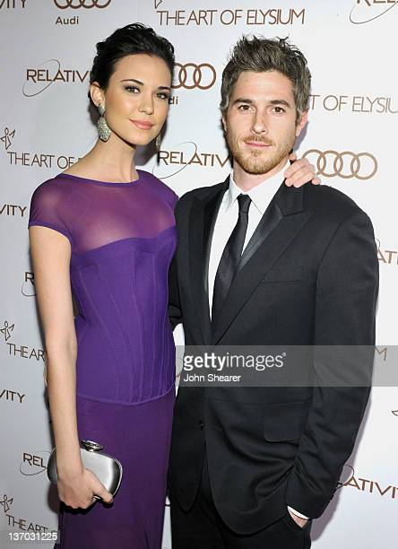 Actress Odette Annable and Actor Dave Annable arrive at Audi presents The Art of Elysium's 5th annual HEAVEN at Union Station on January 14, 2012 in...