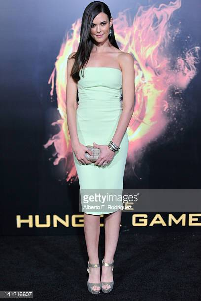"""Actress Odette Annable arrives to the premiere of Lionsgate's """"The Hunger Games"""" at Nokia Theatre L.A. Live on March 12, 2012 in Los Angeles,..."""