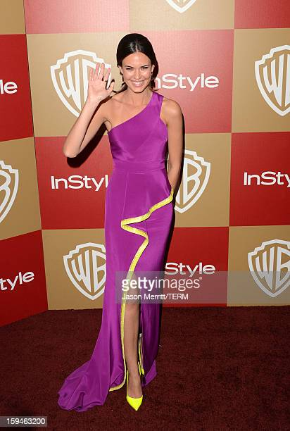 Actress Odette Annable attends the 14th Annual Warner Bros And InStyle Golden Globe Awards After Party held at the Oasis Courtyard at the Beverly...