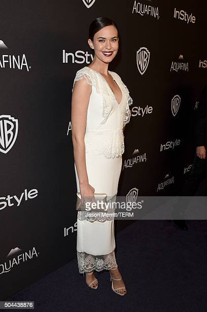Actress Odette Annable attends The 2016 InStyle And Warner Bros. 73rd Annual Golden Globe Awards Post-Party at The Beverly Hilton Hotel on January...