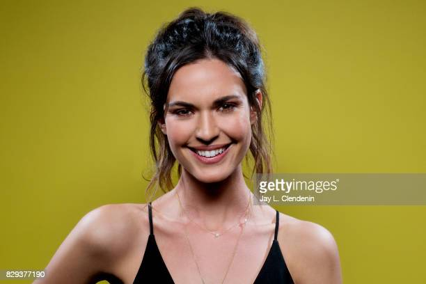 Actress Odette Annable from the television series 'Supergirl' is photographed in the LA Times photo studio at ComicCon 2017 in San Diego CA on July...