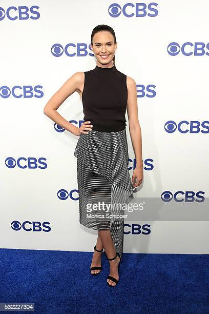 Actress Odette Annable of CBS television series Pure Genius attends the 2016 CBS Upfront at Oak Room on May 18 2016 in New York City