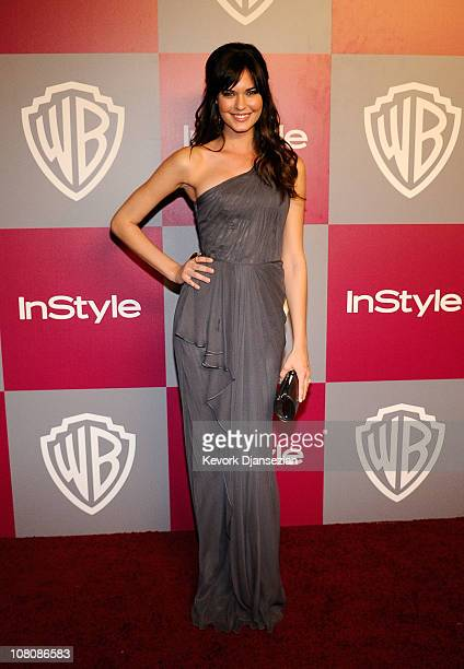 Actress Odette Yustman arrives at the 2011 InStyle And Warner Bros 68th Annual Golden Globe Awards postparty held at The Beverly Hilton hotel on...