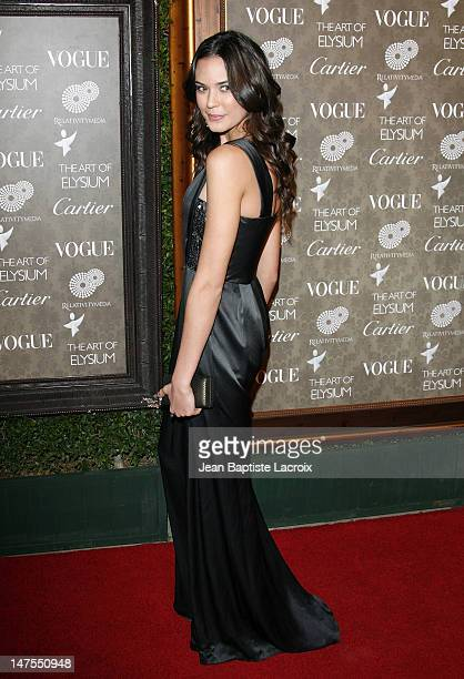 Actress Odette Yustman arrives at the Art of Elysium 2nd Annual Heaven Gala held at Vibiana on January 10, 2009 in Los Angeles, California.