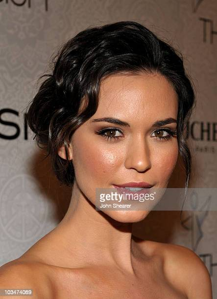 """Actress Odette Yustman arrives at The Art of Elysium's 3rd Annual Black Tie Charity Gala """"Heaven"""" on January 16, 2010 in Beverly Hills, California."""