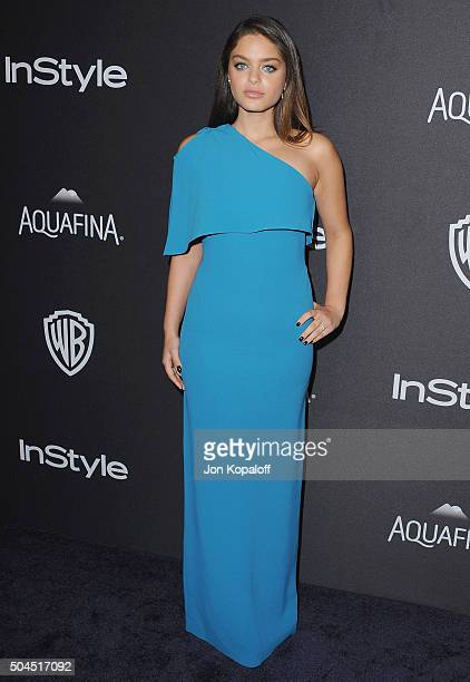 Actress Odeya Rush arrives at the 2016 InStyle And Warner Bros 73rd Annual Golden Globe Awards PostParty at The Beverly Hilton Hotel on January 10...