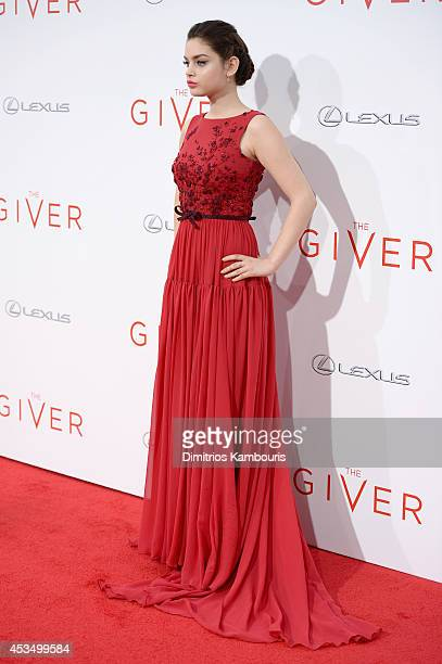 Actress Odeya Rush attends The Giver premiere at Ziegfeld Theater on August 11 2014 in New York City