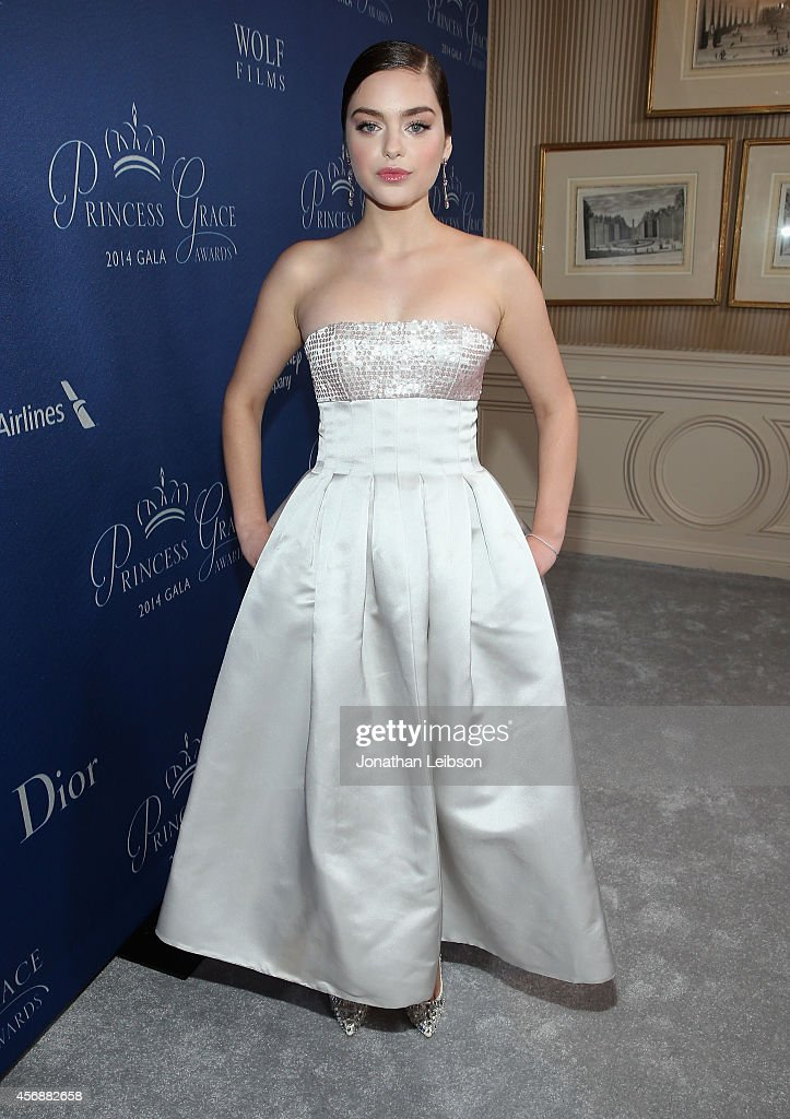 Actress Odeya Rush, wearing Dior, attends 2014 Princess Grace Awards Gala at Regent Beverly Wilshire Hotel on October 8, 2014 in Beverly Hills, California.