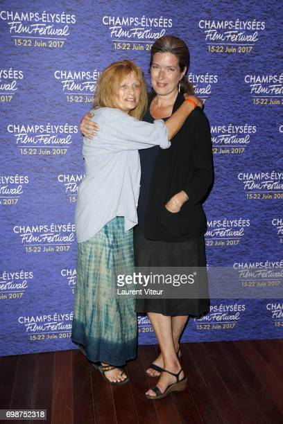 Actress Odile Michel and Actress Eleonore Klarwein attend Diabolo Menthe Retrospective at Cinema Le Publicis during the 6th ChampsElysees Film...