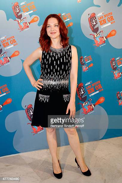 Actress Odile Vuillemin attends 'Les Nuits En Or 2015' Dinner at UNESCO on June 15, 2015 in Paris, France.