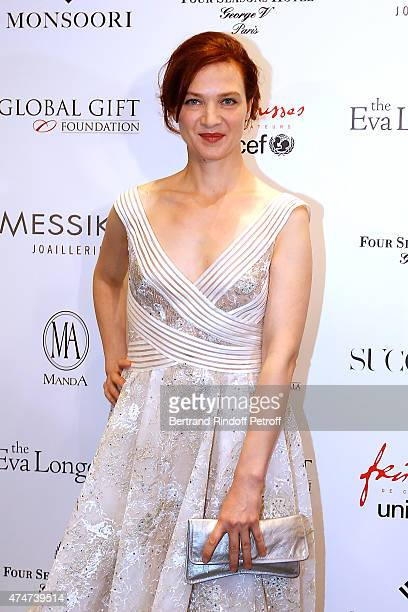 Actress Odile Vuillemin attends the Global Gift Gala Photocall Held at Four Seasons Hotel George V on May 25 2015 in Paris France