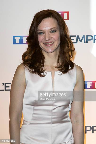 Actress Odile Vuillemin attends the 'L'Emprise' photocall at Cinema Arlequin on January 21 2015 in Paris France