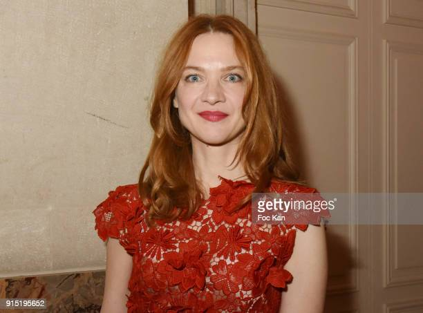 Actress Odile Vuillemin attends the Trophees du Film Francais 2018 at Palais Brogniart on February 6 2018 in Paris France