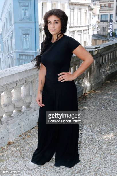 """Actress of """"Chacun pour tous"""": Camelia Jordana attends the 11th Angouleme French-Speaking Film Festival : Day Three on August 23, 2018 in Angouleme,..."""